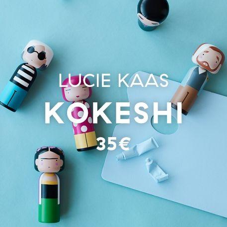 Lucie Kaas Kokeshi Dolls